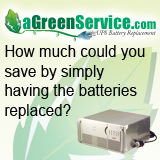 UPS the Green Way Battery replacement instead of trashing good electronics
